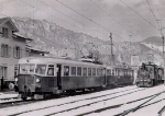 Triebwagen und Dampflok in Balsthal