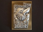 Plakette 1986 Gold