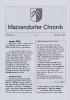 Matzendorfer Chronik Nr. 1 2005