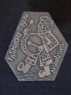 Plakette 1974 Silber