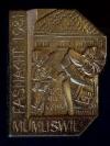 Plakette 1981 Gold