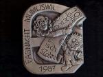 Plakette 1987 Silber