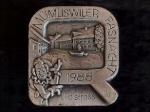 Plakette 1988 Silber