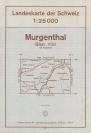 Landkarte - Murgenthal 1970