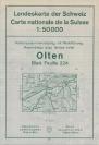 Landkarte - Olten 1964